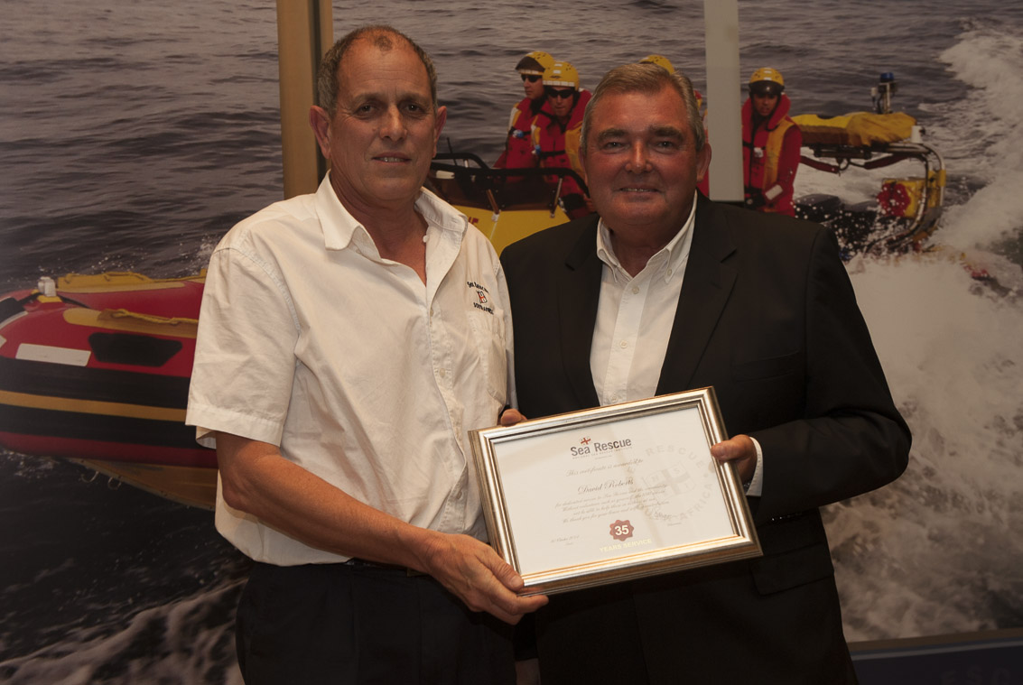 Dave Roberts – Regional Director 35 years service.