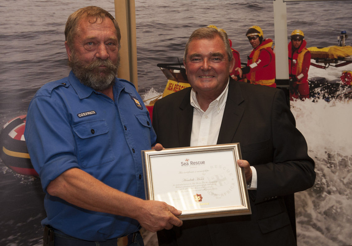 Hendrik Henn – Station 17 Hermanus. 35 years service.