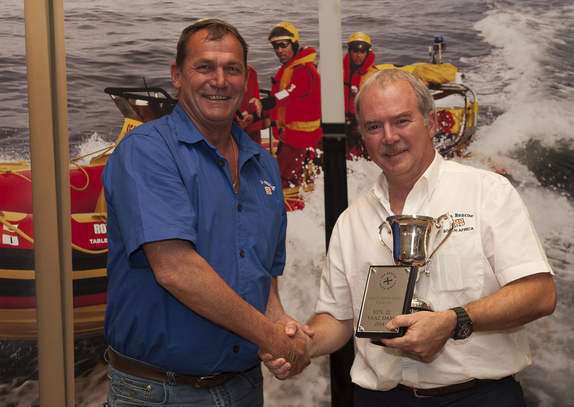 MOST IMPROVED STATION AWARD Station 22 – Vaal Dam. Dicky Manten.