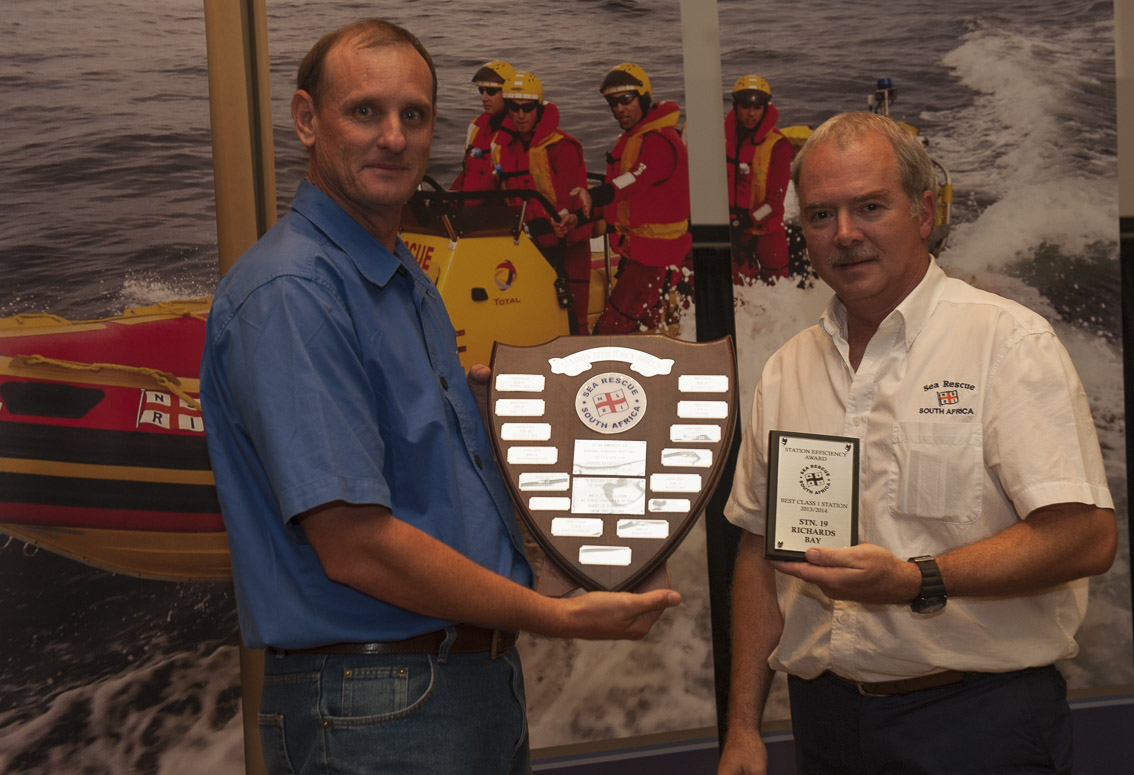 BEST CLASS 1 STATION AWARD (PAT O SULLIVAN) -Station 19 - RICHARDS BAY. Dorian Robertson.