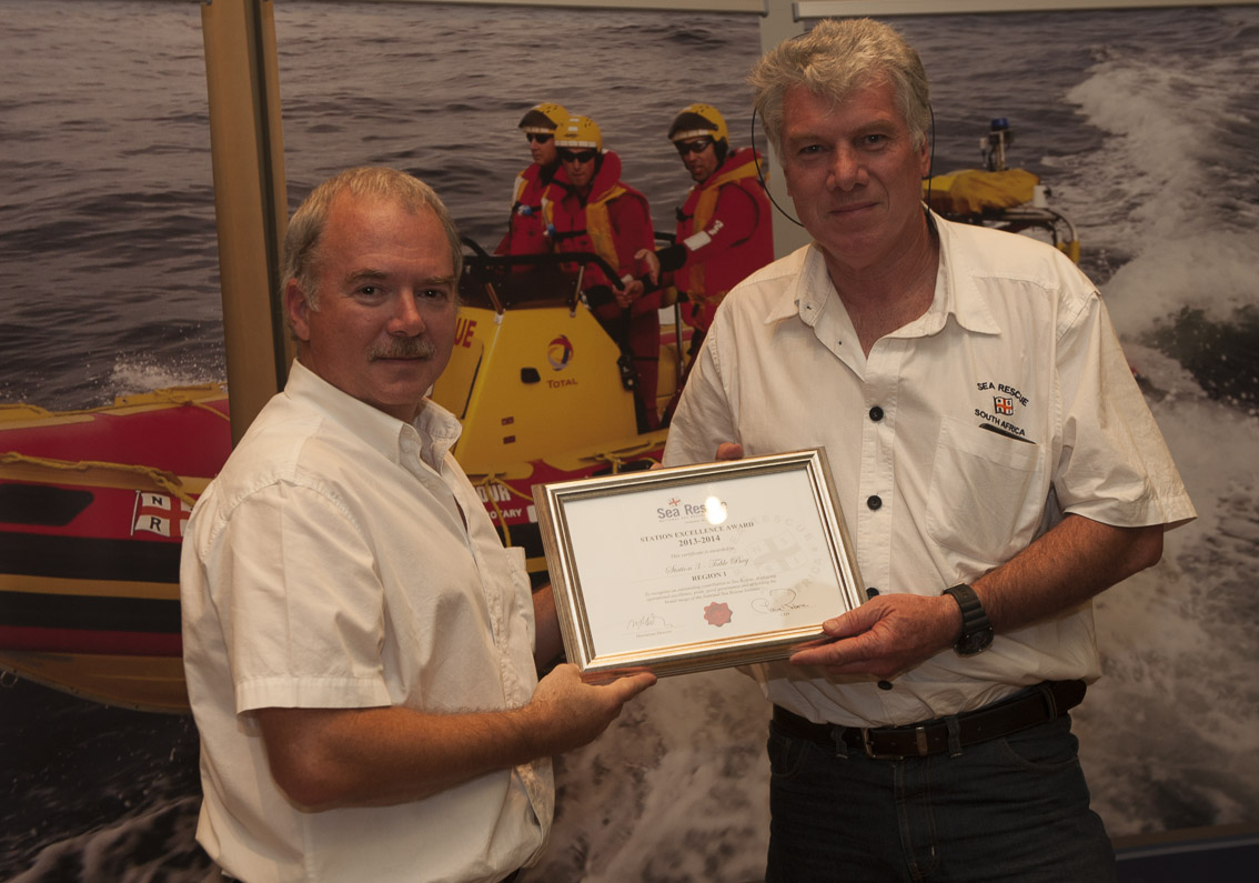 STATION EXCELLENCE AWARDS Region 1 – Station 3 Table Bay. Pat Van Eyssen.