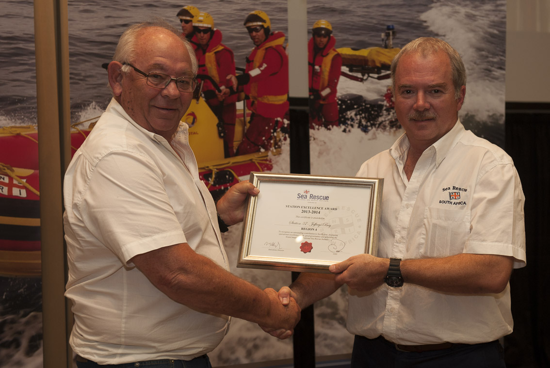 STATION EXCELLENCE AWARDS  Region 4 – Station 37 Jeffrey's Bay. Clive Shamley.