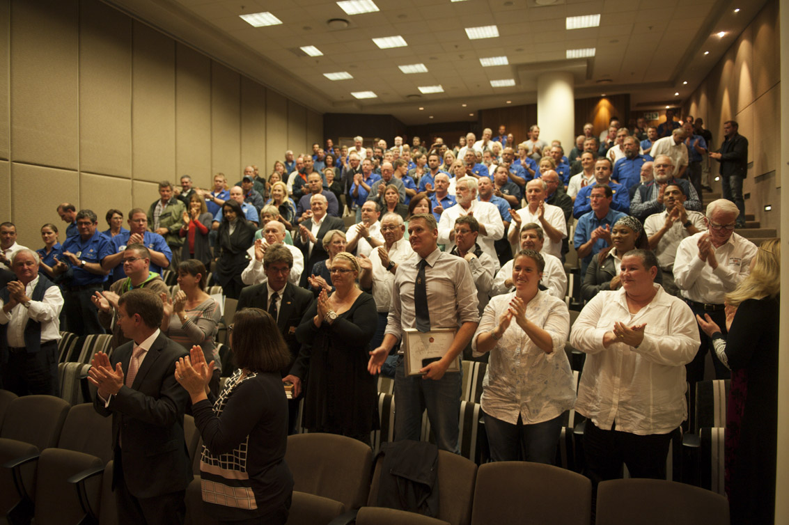 NSRI AGM 2014. A standing ovation for Robin.