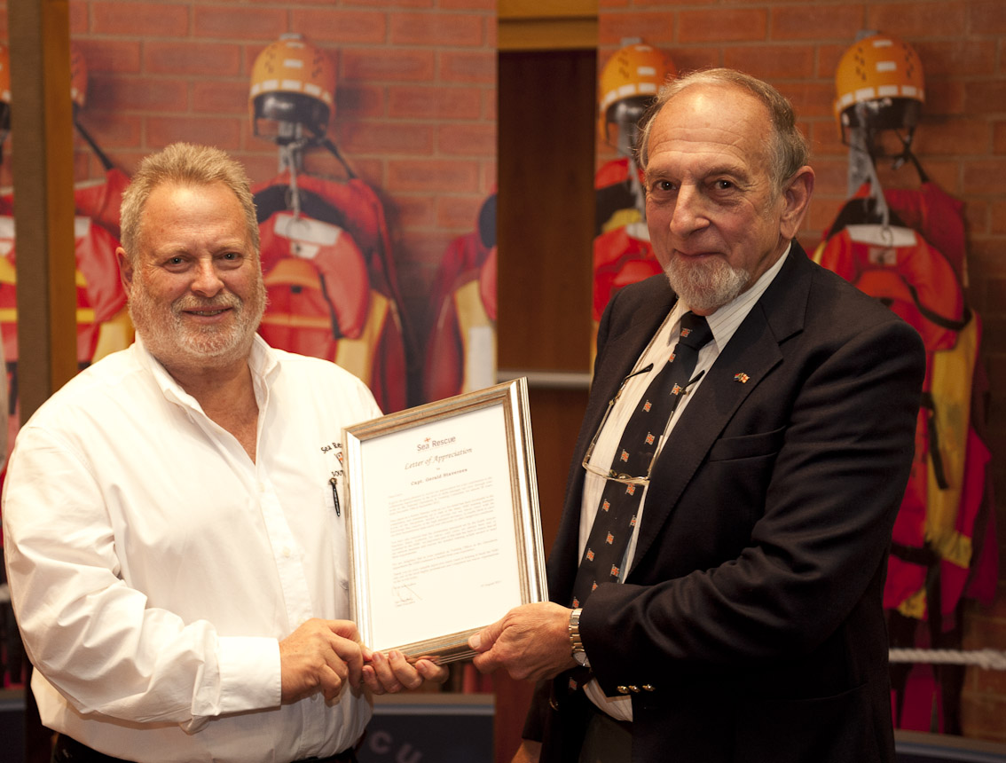 Gerry Staverees  receives his Letter of Appreciation.