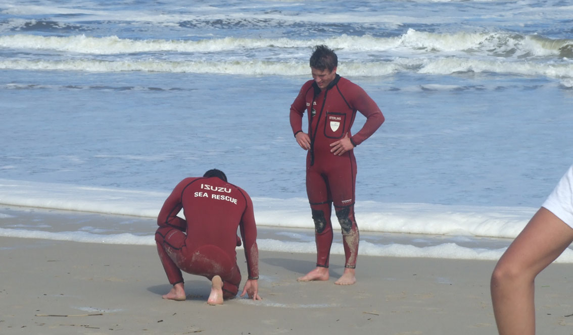 NSRI rescue swimmers Andre Barnard (25) and Josh Henn (17). Picture Deon Langenhoven / NSRI.