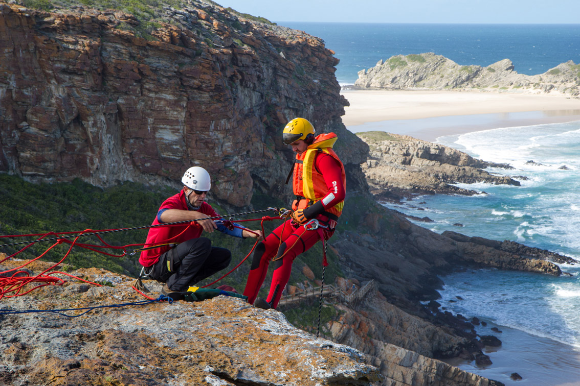 Abseiling off Robberg. Picture by  stuartbrinkfilms.com