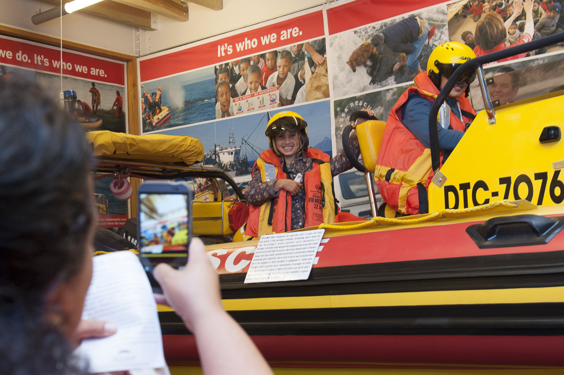 Titanic supports NSRI and the Rescue boat Queenie Paine is on display at the end of the exhibition. Public are invited to board her to see what it is like on a rescue boat.