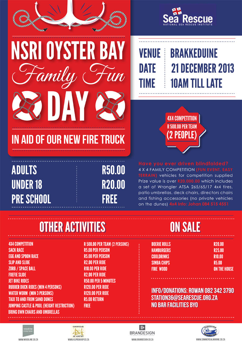 NSRI - Oyster bay poster