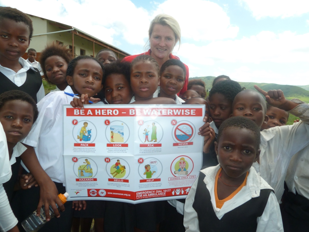 Debbie and some of the children who are now WaterWise.