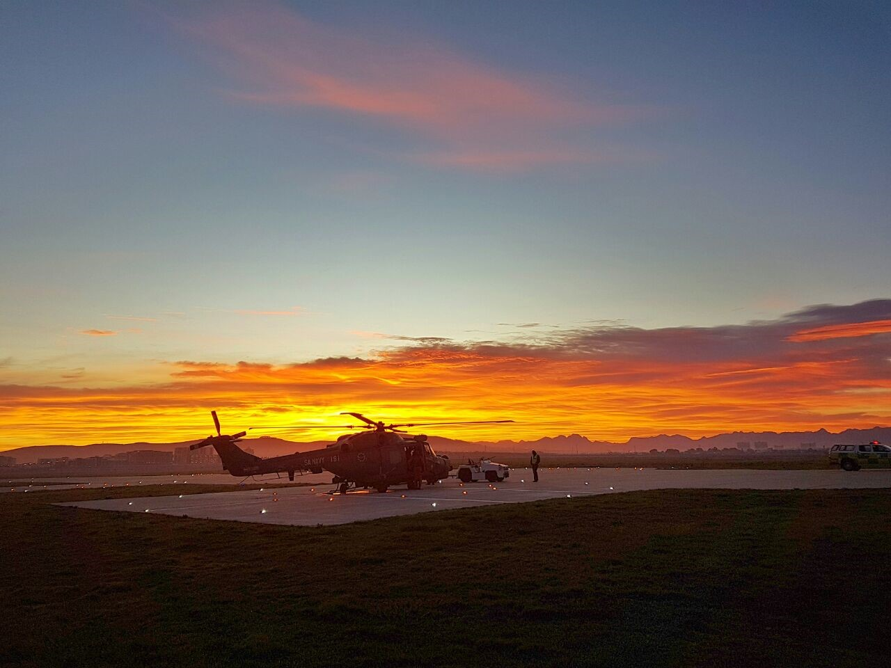 Picture Attached: Picture by Pierre-Jacques Rabie, NSRI ASR crew, of the SAAF 22 Squadron Lynx helicopter and rescue crews preparing for the mercy flight this morning