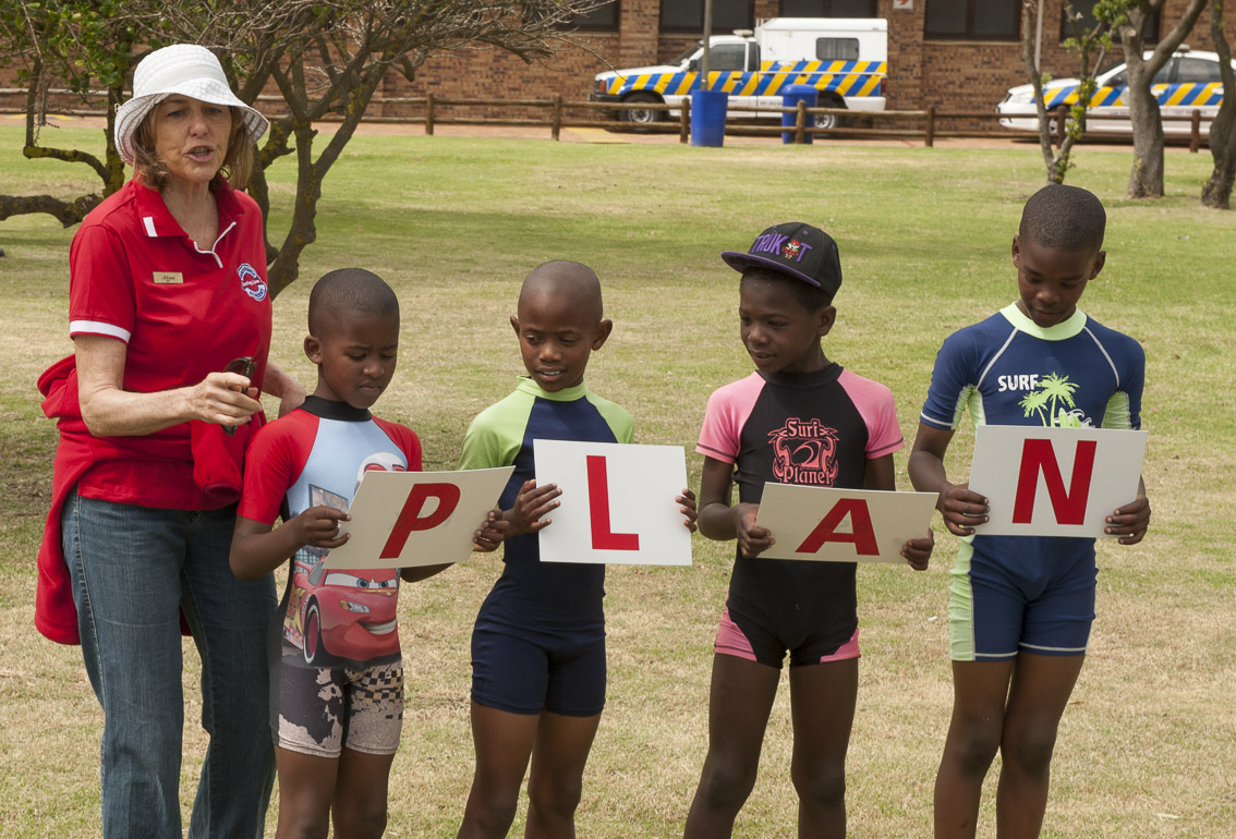 Alison Cope teaches the children to have a PLAN.