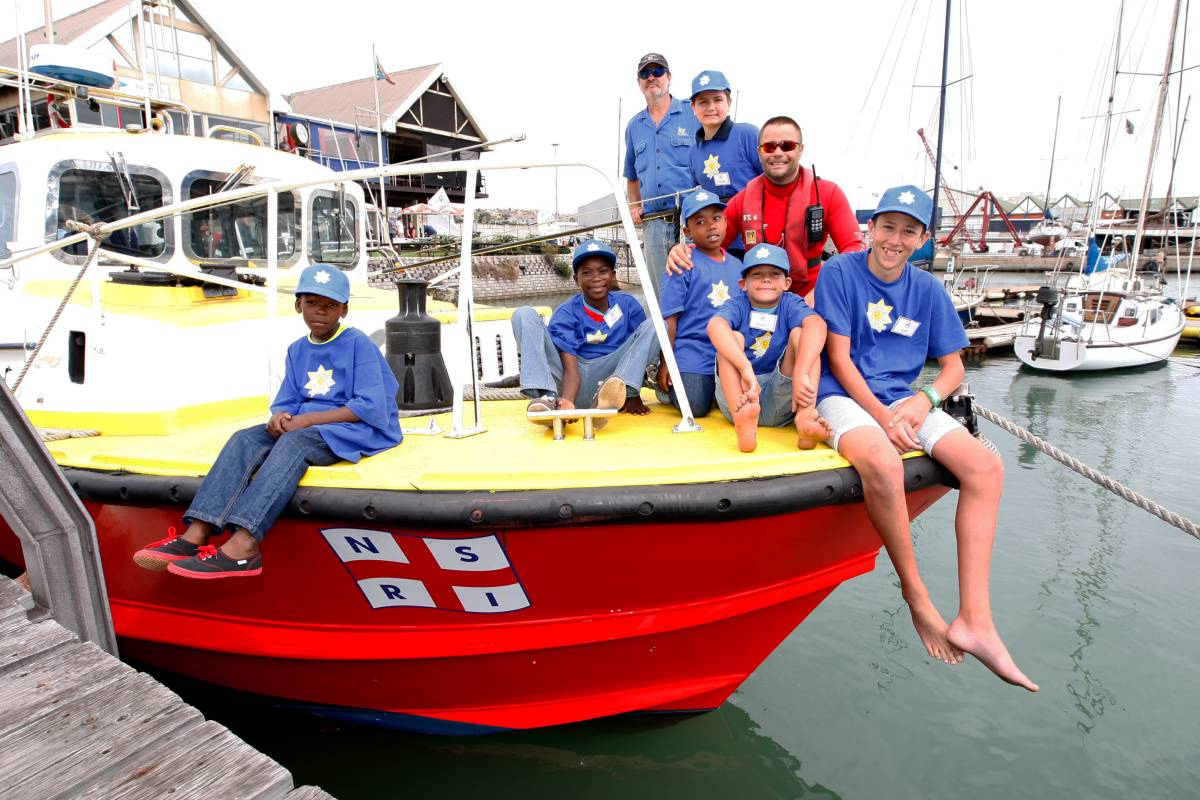 Reach for a Dream and NSRI join forces to educate kids with life-threatening illnesses how to stay safe on the beaches.Picture by Judy de Vega / The Herald.