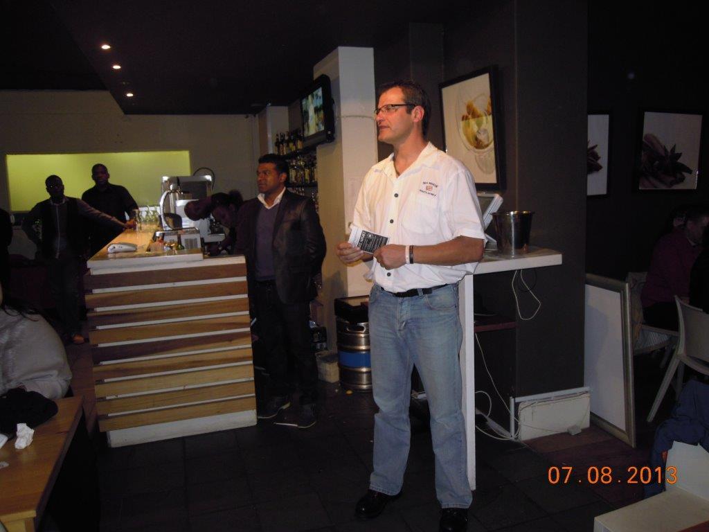 Restaurant owner Chef PK and SRHU Station Commander Andre Beuster