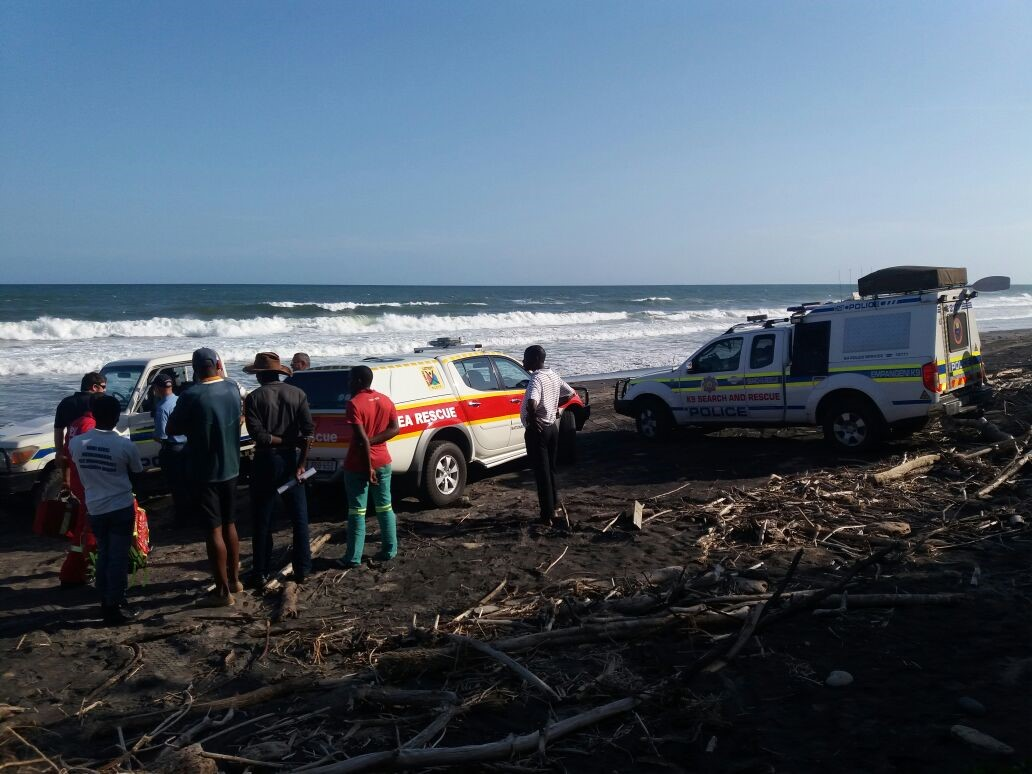 Photograph attached taken at the scene by NSRI Richards Bay.