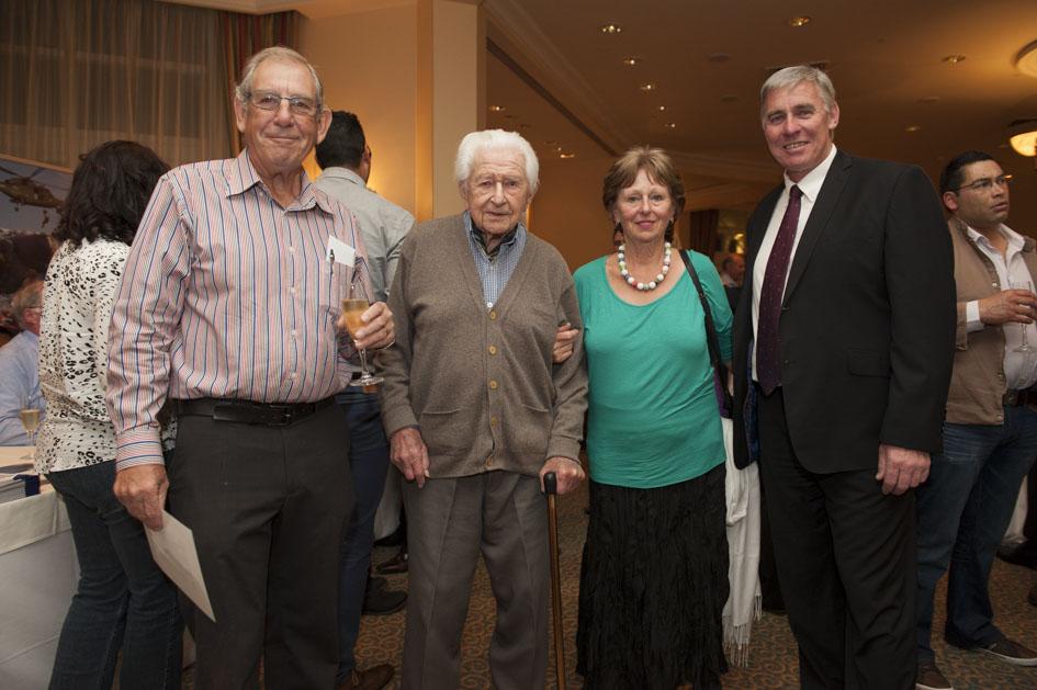 Rotarians Richard Burnett, Hein Schipper, his daughter Chippy and NSRI's Cleeve Robertson.