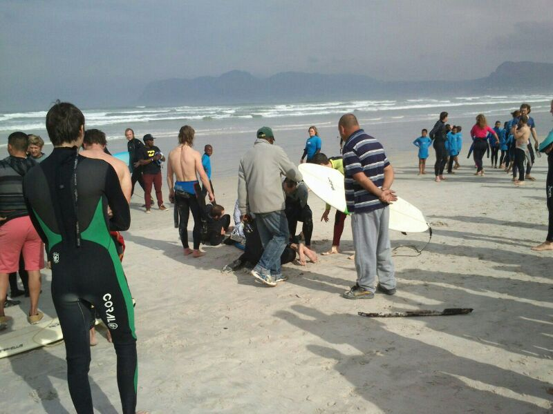 At 14h07, Friday, 01 August, NSRI Simon's Town volunteer sea rescue duty crew and CMR (Cape Medical Response) were activated following reports of a man bitten by a shark while surfing off-shore of the Pavilion, Muizenberg Beach.