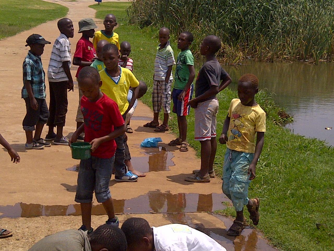 Children play in Soweto.