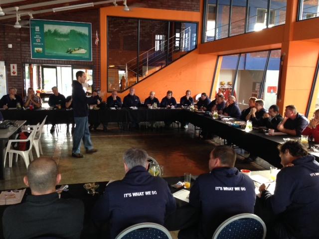 Brett Ayres kicks off the discussion on training.