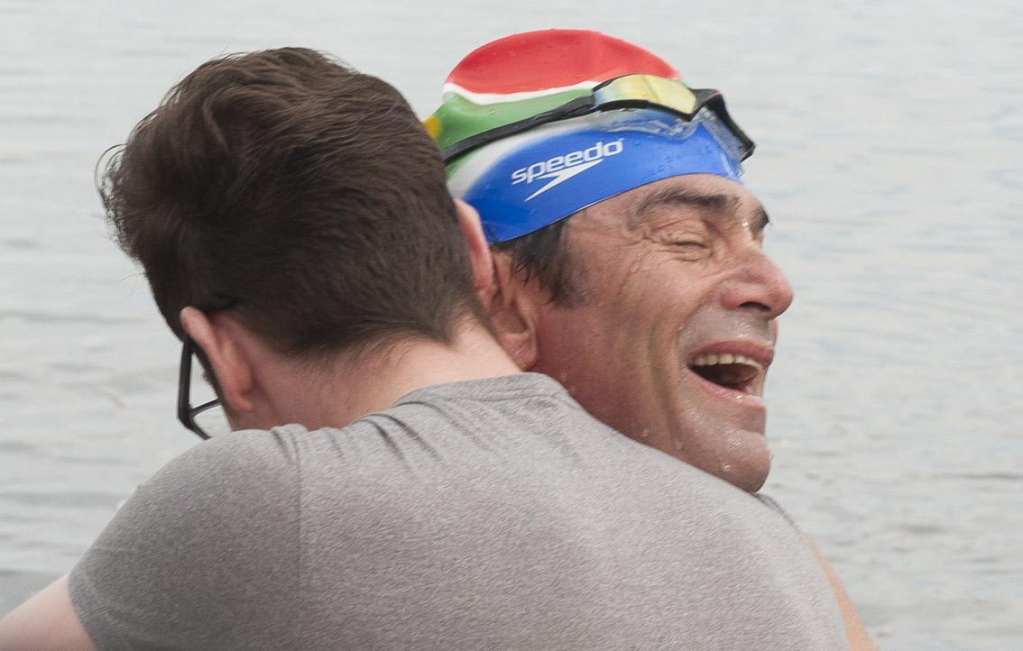 Theodore Yacht Robben Island swim Picture Andrew Ingram / Sea Rescue