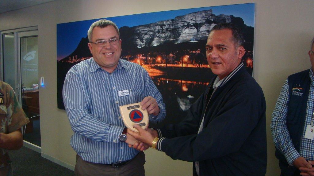 NSRI's Andy Connell with Greg Pillay