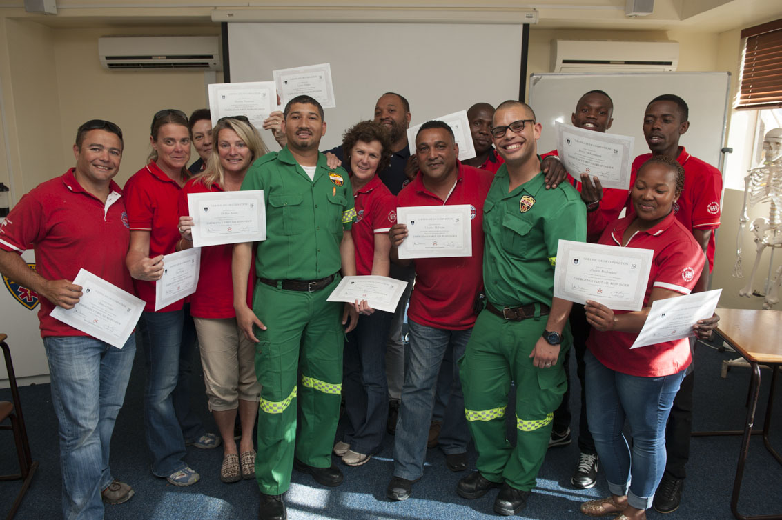 The team with their EFAR certificates.