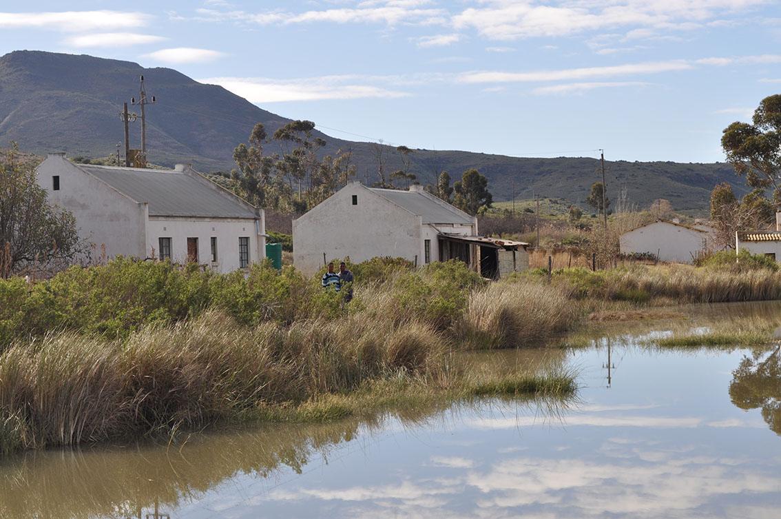 Die dam is naby die huise en maklik toeganklik vir iemand om te gaan swem.