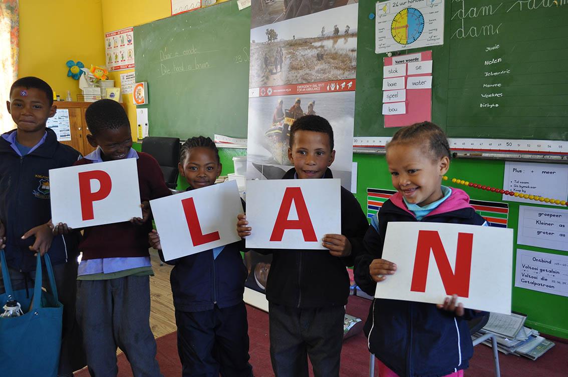 Die meeste van Koelfontein se kinders het die PLAN onthou, nadat WaterWise verlede jaar ook die skool besoek het.