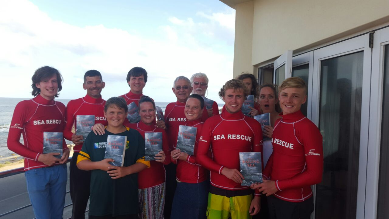 Still Bay rescue crew says thanks for their book and Second Skins