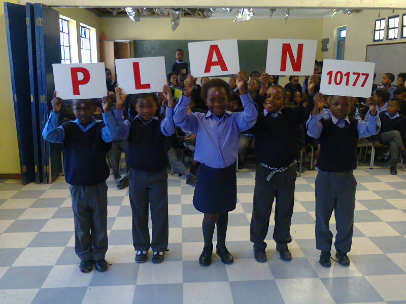 Nobantu Primaru School kids are learning the WaterWise PLAN.