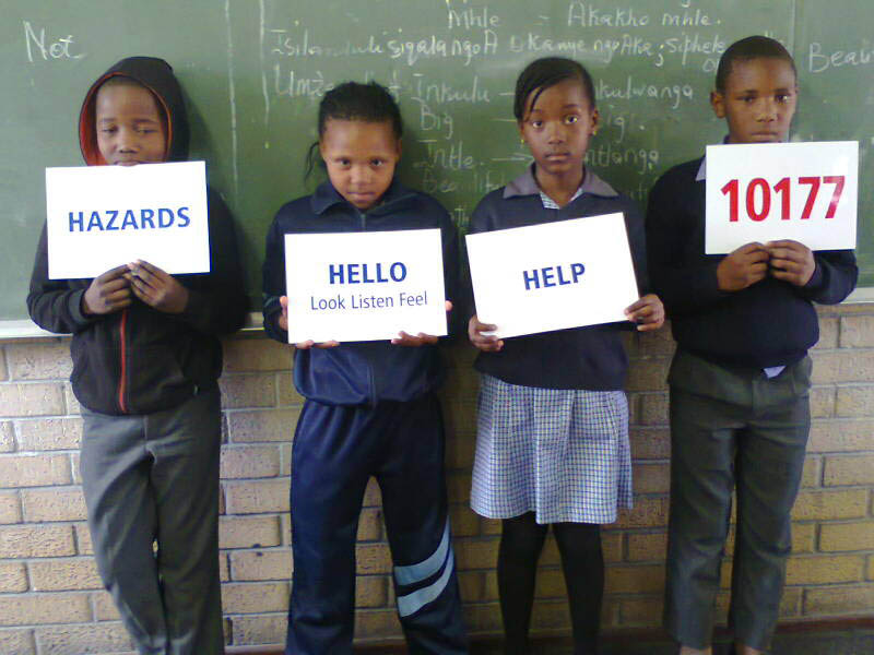 Mzamomhle kids learning HHH.