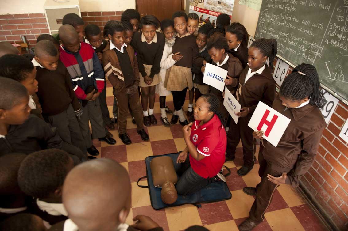 The Walter Teka children learn CPR