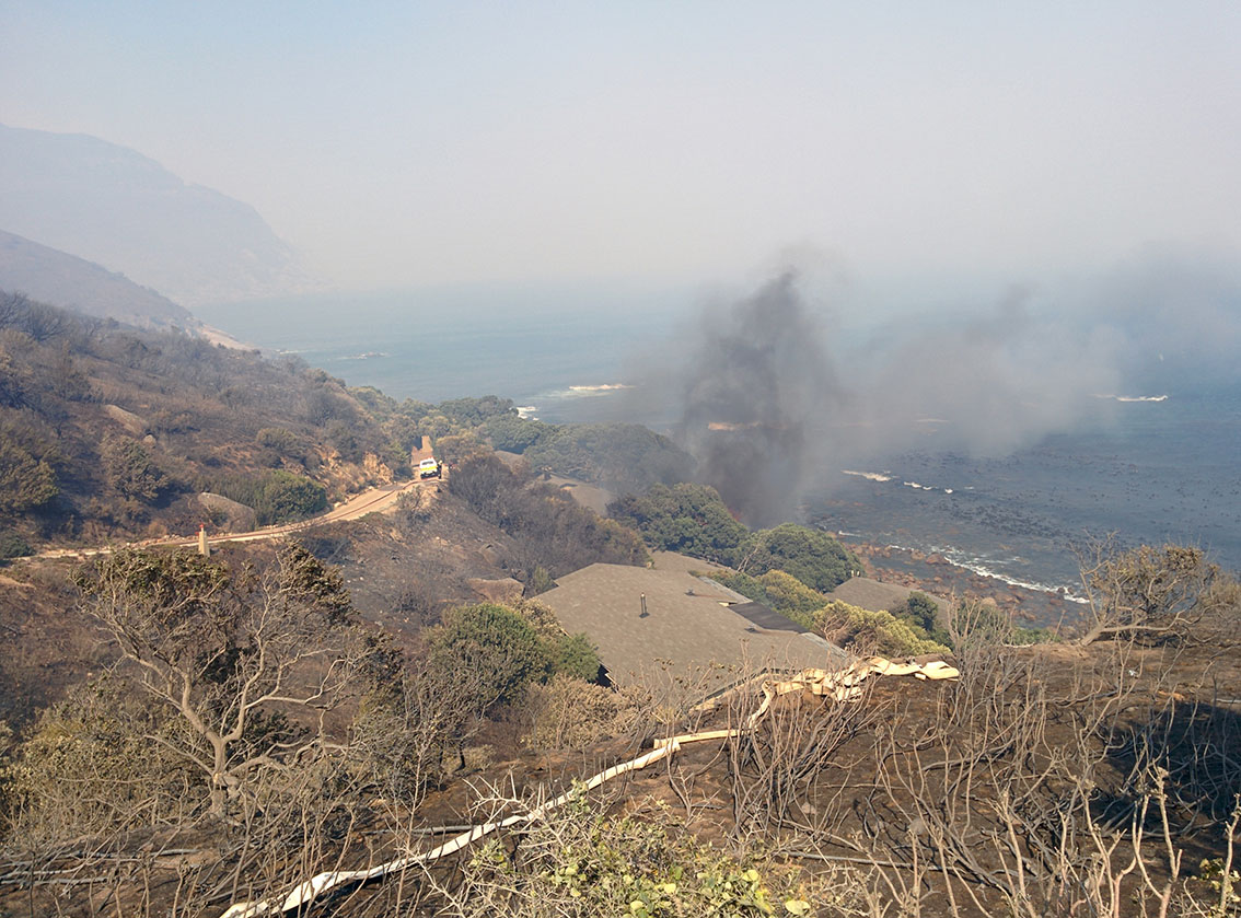 Hout Bay fire Monday 2 March 2015 photo taken by Craig McIver-Station 8, Hout Bay.