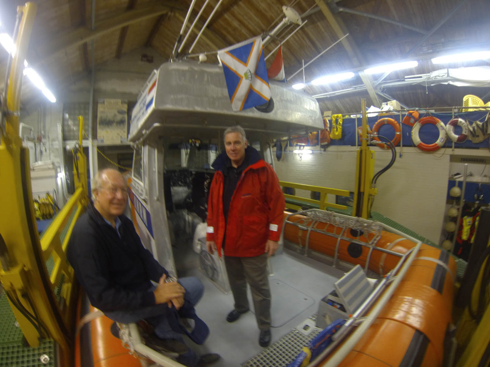 KNRM volunteer and Senior International Advisor Search and Rescue, Henk Kok hosted Cleeve at the  KNRM lifeboatstation.