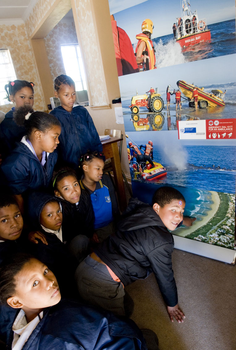 Damian Pietersen, 9 years old, identifying a rip current, he is from Waboomskraal Primary.