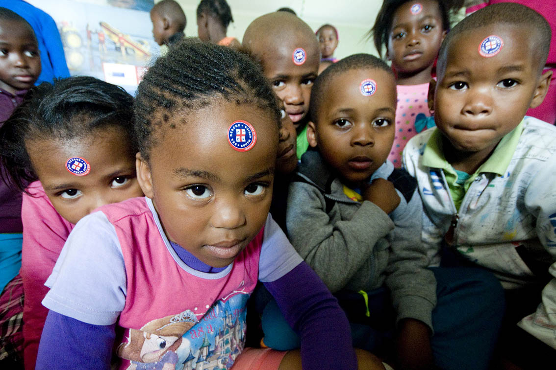Little ones from Siyazama Educare.