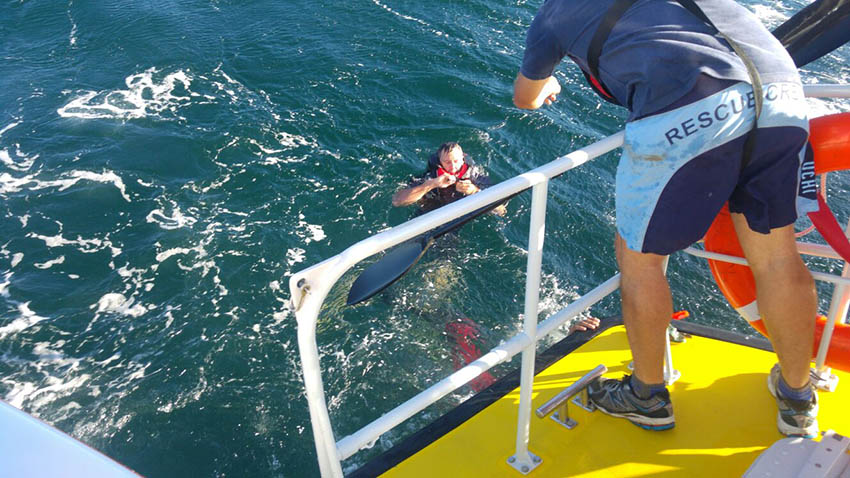 Rescued. Picture NSRI Simons Town