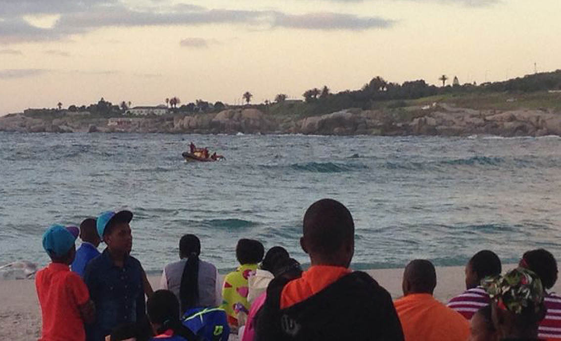 The Sea Rescue boat Rotarian Schipper searches for the two missing children in Camps Bay.