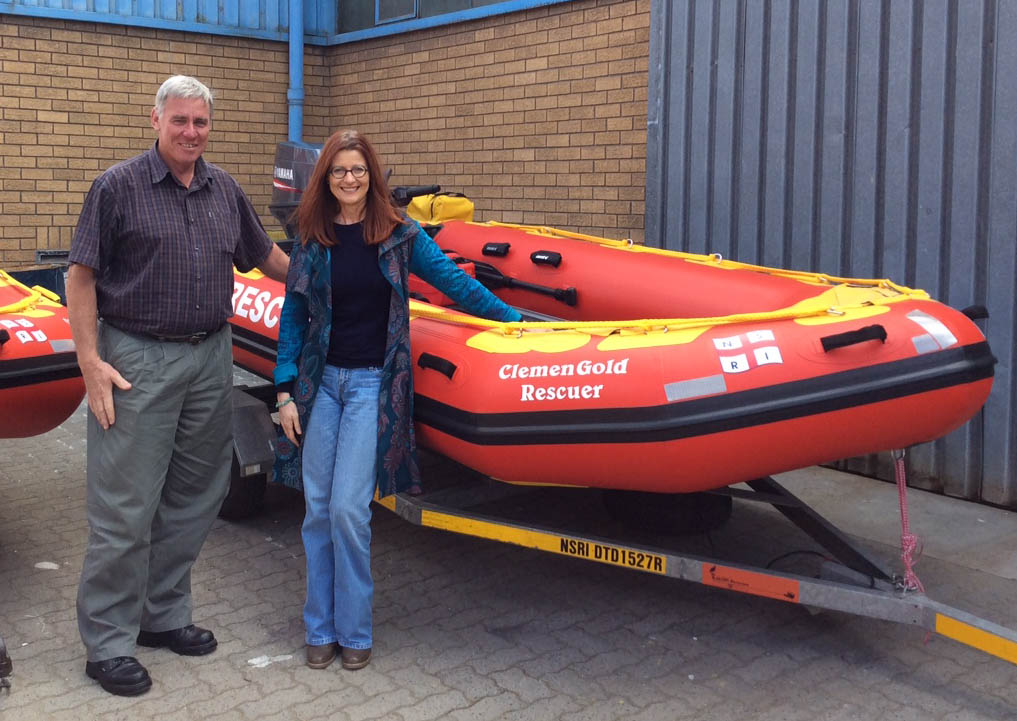 NSRI CEO Dr Cleeve Robertson with