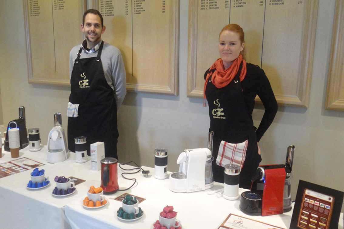 Rowan and Megan from the Coffee Capsules Direct team.