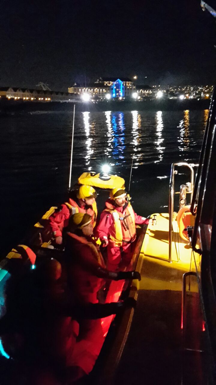 Night exercise in Table Bay