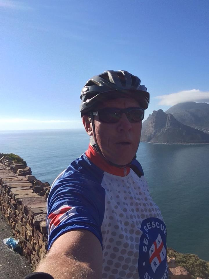 Join our CEO, Dr Cleeve Robertson, riding in Sea Rescue colours