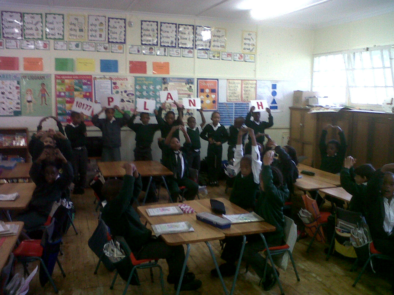 The grade 3 class at