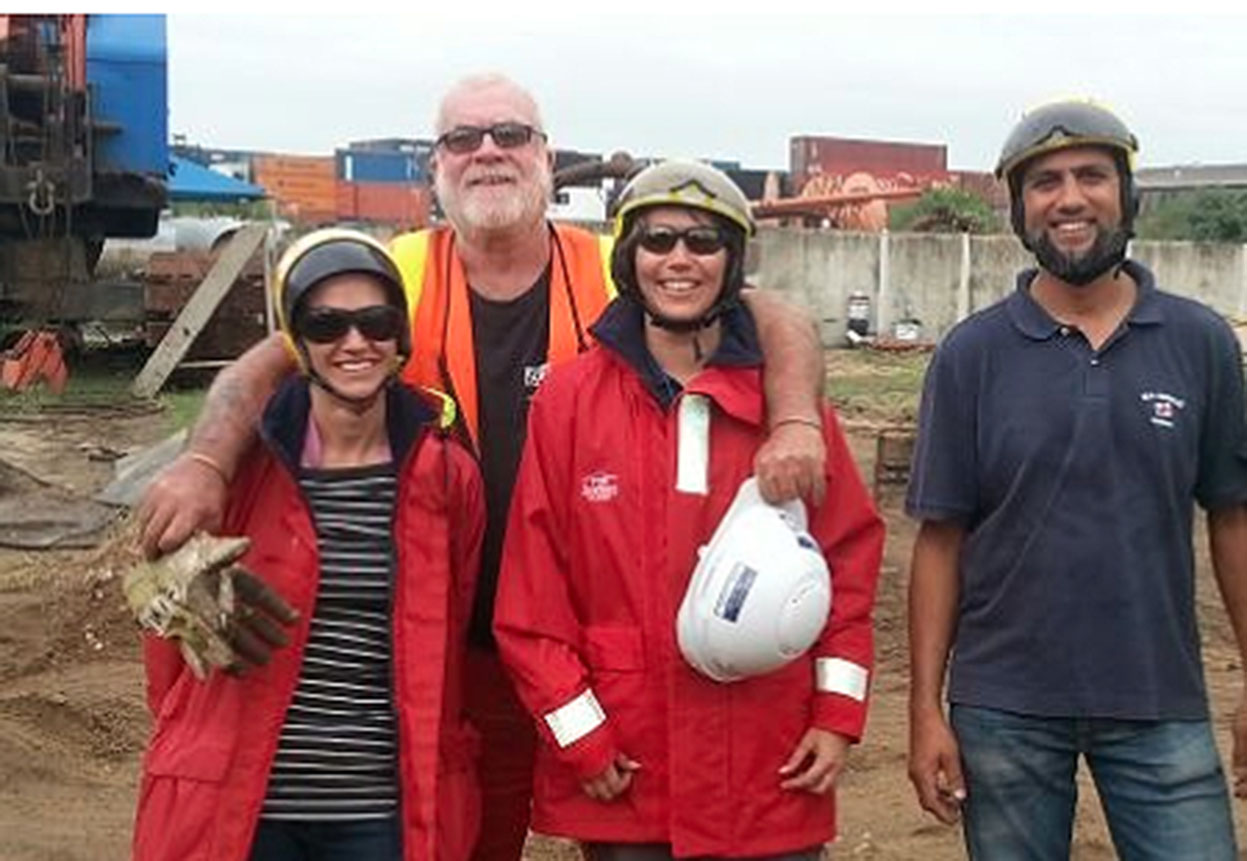 Jimmy of Subtech ( second left) , Eileen, Wendy and Salim of NSRI all smiles