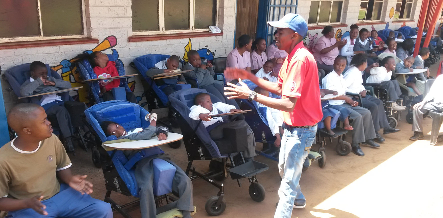 Kenneth Gagela teaches at the Eyetu centre for disabled children in Soweto.