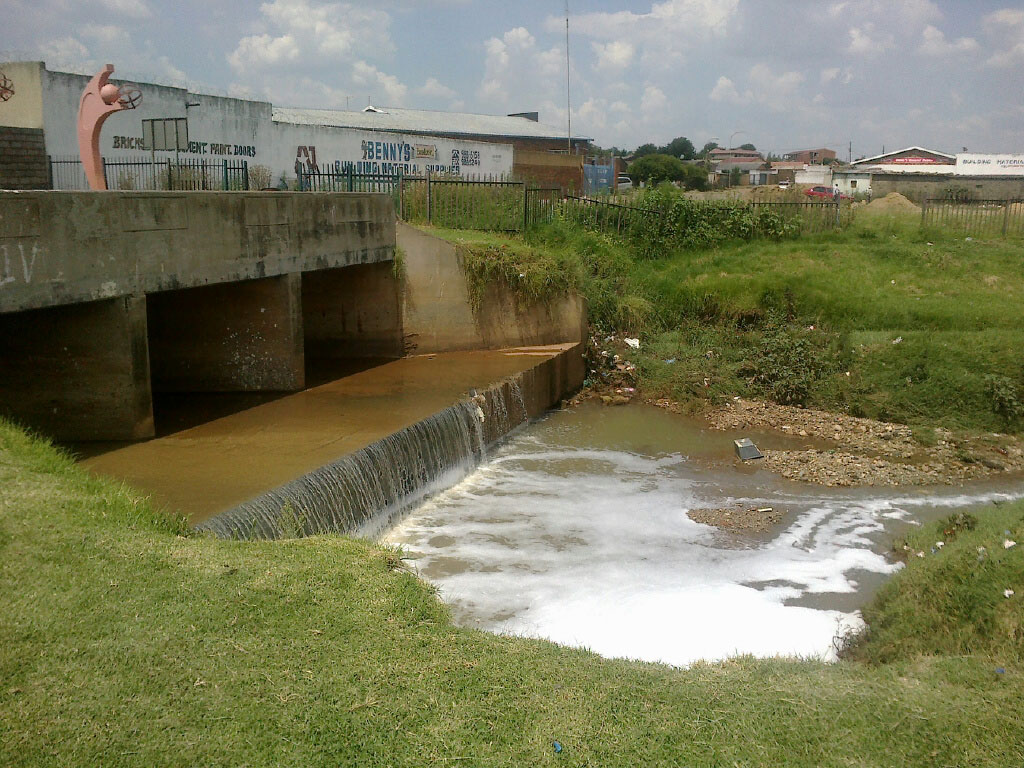 A bridge in Soweto that is close to four schools.