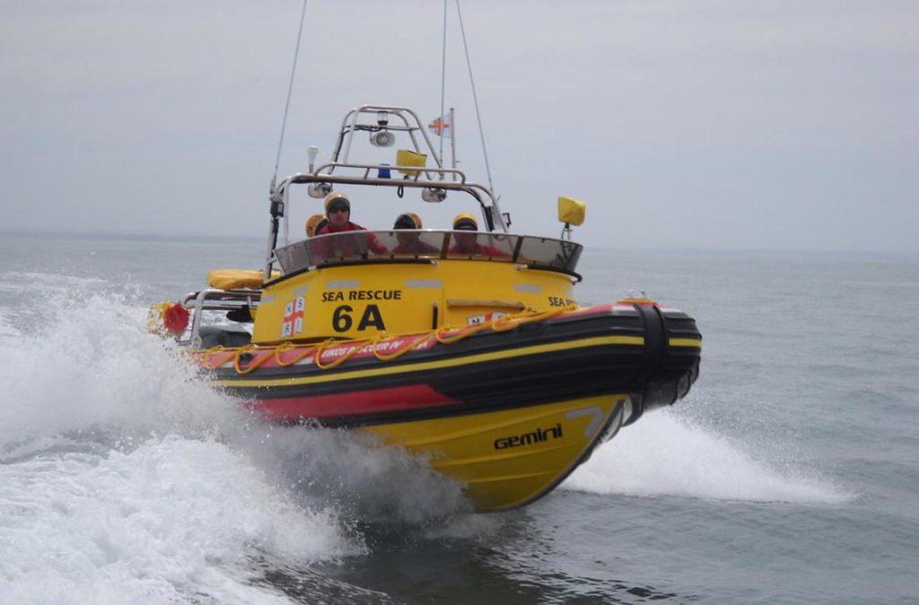 Four Men Rescued Off Capsized Fishing Boat Nsri