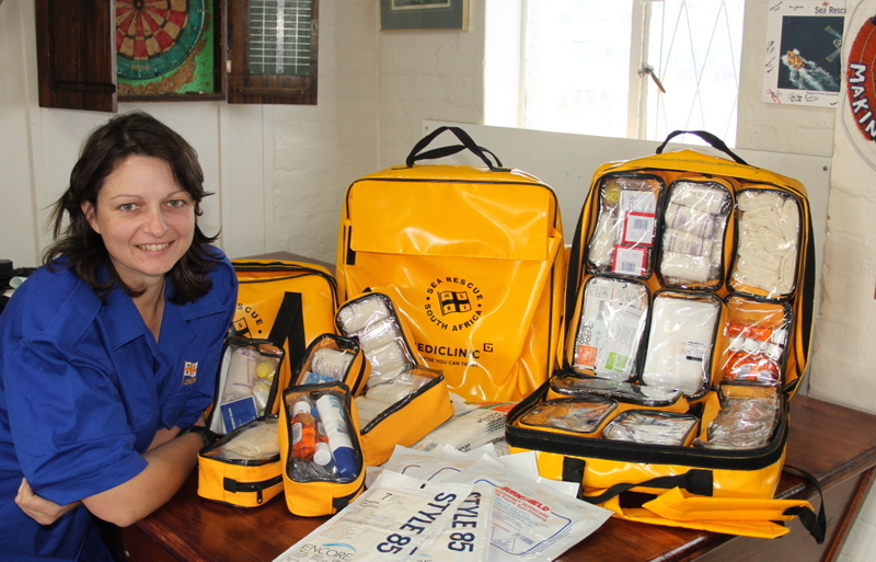 Station first aid officer Sheryll Grobbler with some of the newly donated medical equipment.