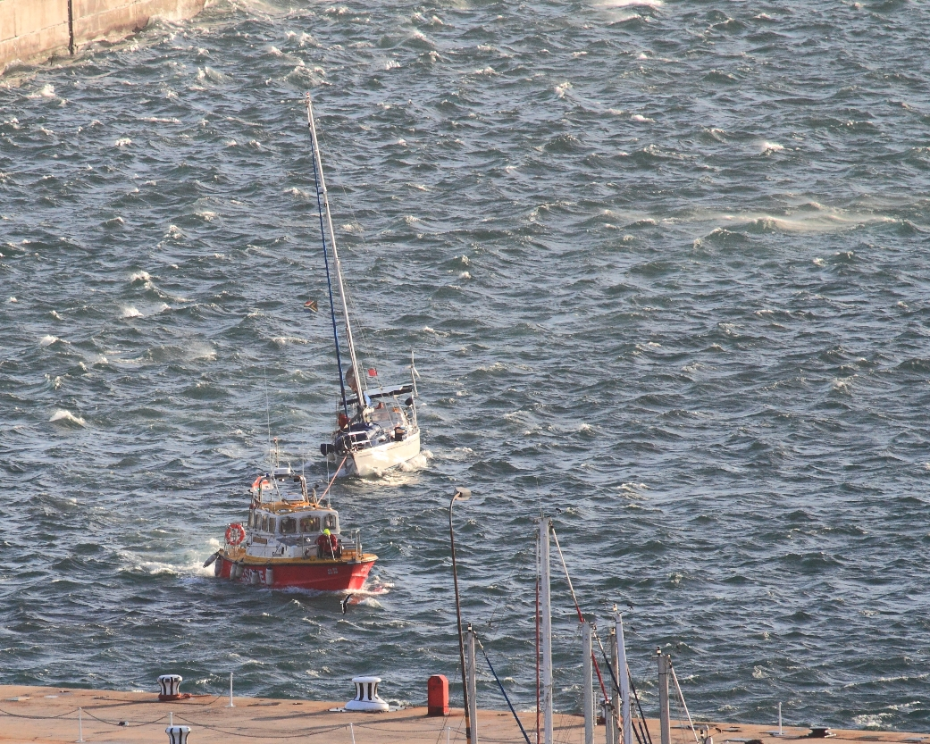 kenya II being towed in to Simons Town by . Picture Leon Strydom