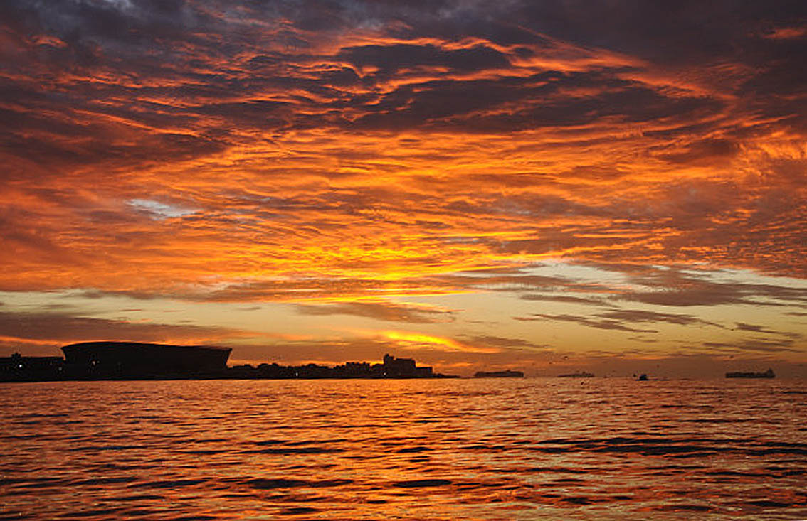 Cape Town sunset - NSRI