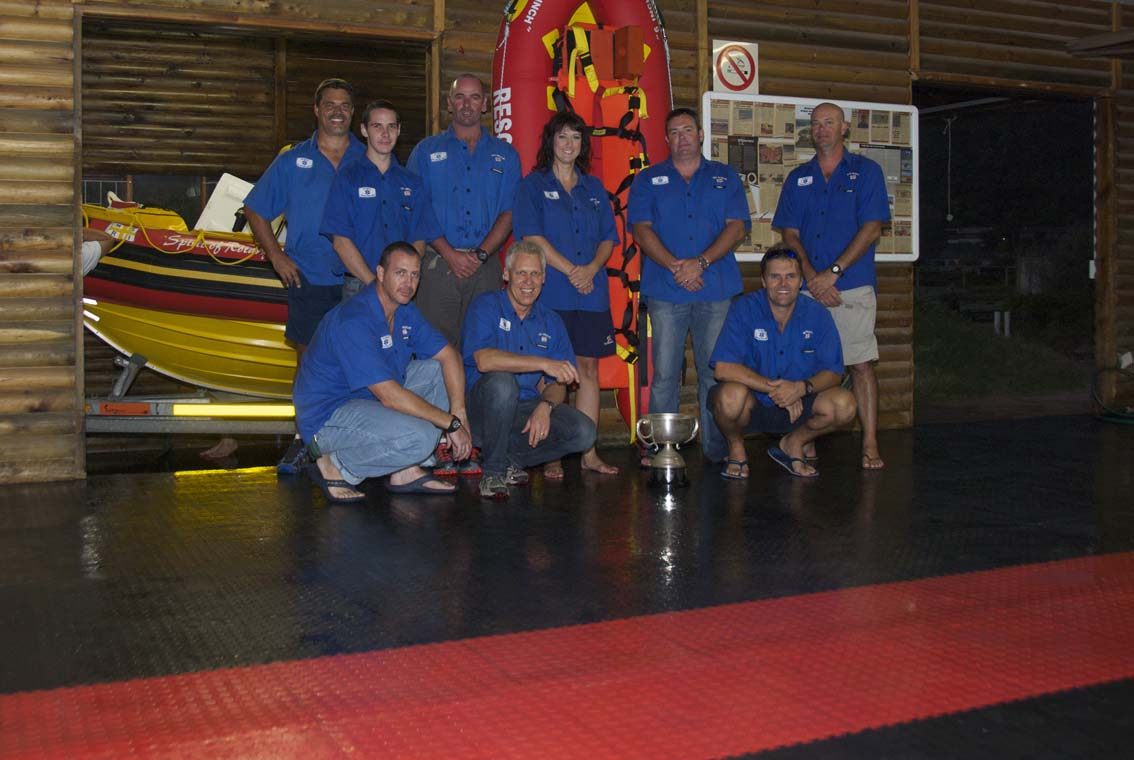 Some of the Wilderness crew with their Centrum Guardian Trophy and the new flooring.